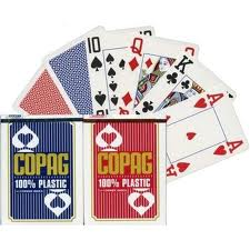 Copag 100% plastic 4 index Marked Cards